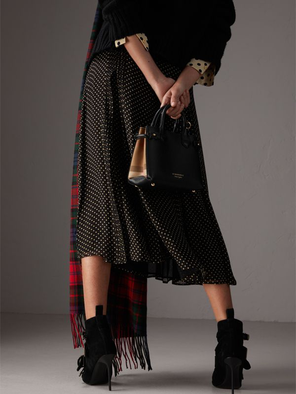 The Baby Banner in Leather and House Check in Black - Women | Burberry - cell image 3
