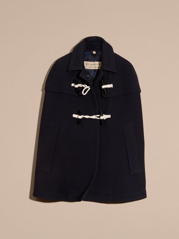 Navy Cappotto a mantella in lana e cashmere Navy - cell image 3