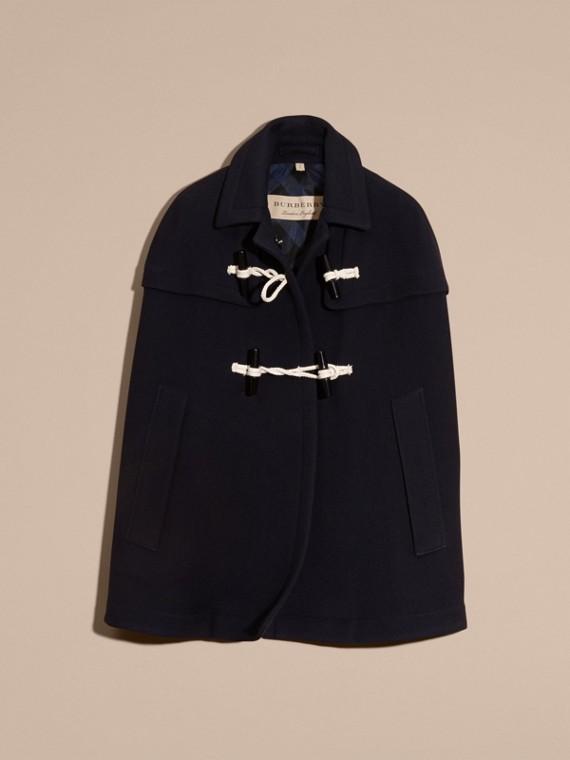 Marine Cape style duffle-coat en laine et cachemire Marine - cell image 3
