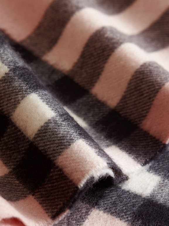 Exploded Check Cashmere Snood in Ash Rose - Children | Burberry United States - cell image 1