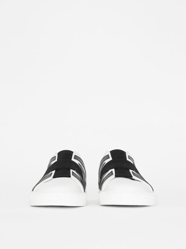 Union Jack Motif Slip-on Sneakers in White - Men | Burberry - cell image 2