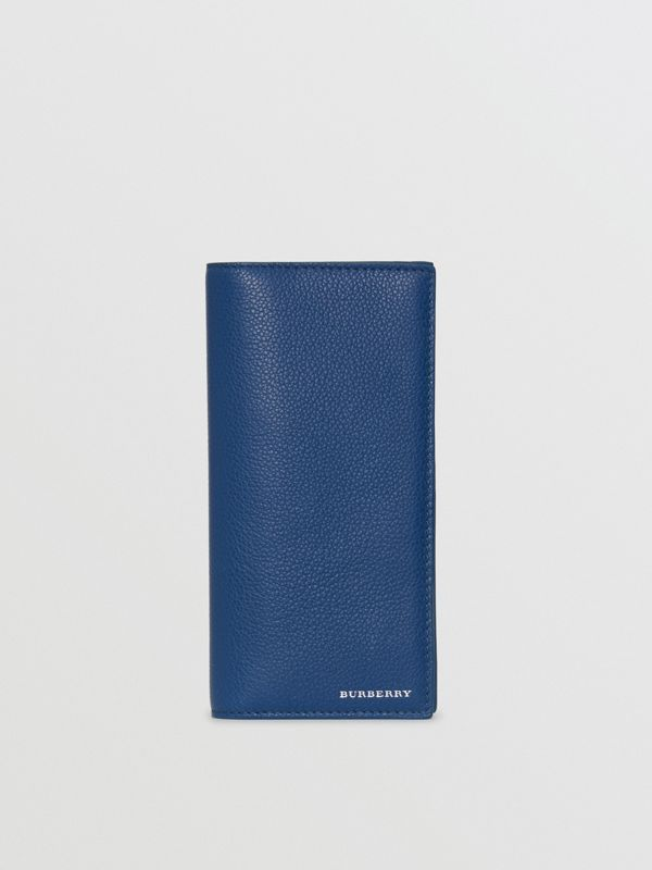 Grainy Leather Continental Wallet in Bright Ultramarine - Men | Burberry - cell image 2