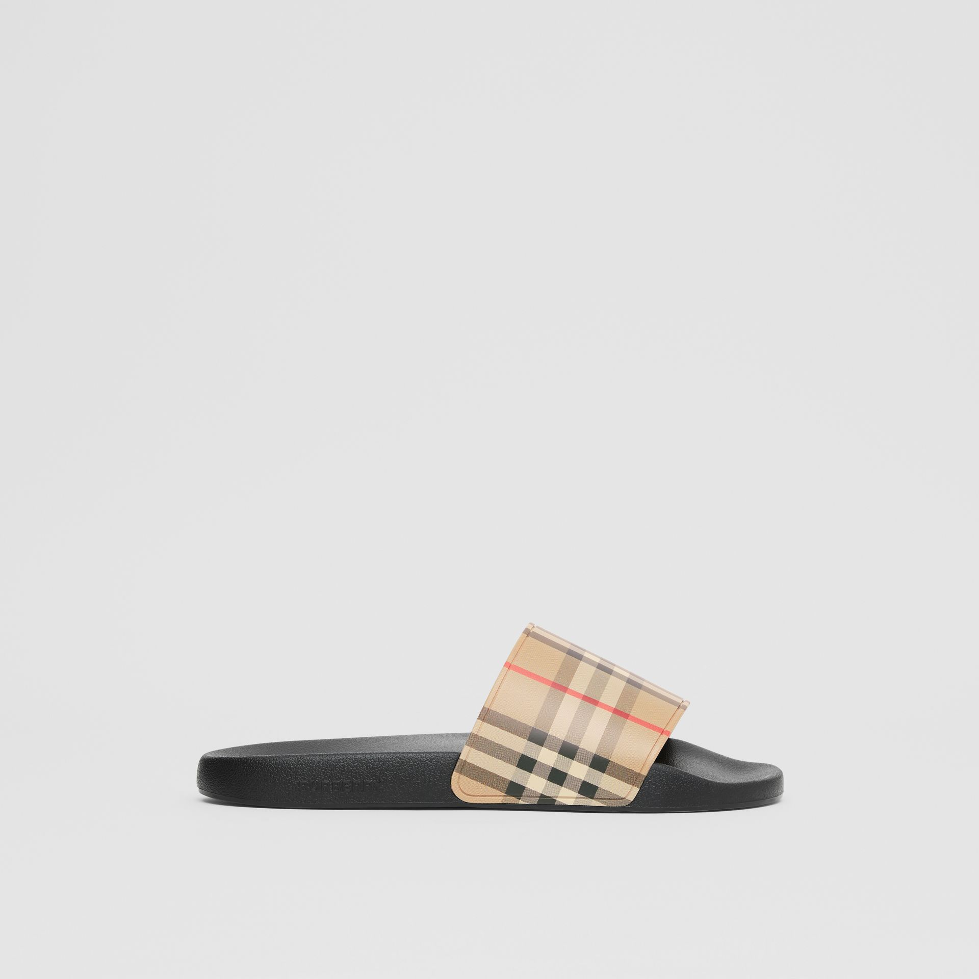 Vintage Check Slides in Archive Beige - Men | Burberry - gallery image 4