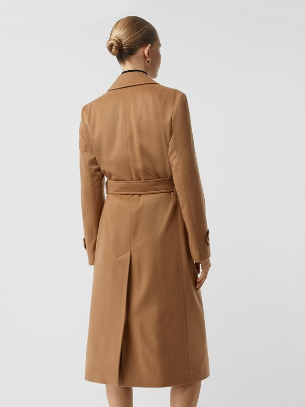 Peak Lapel Cashmere Wrap Coat in Dark Sand - Women | Burberry - cell image 2
