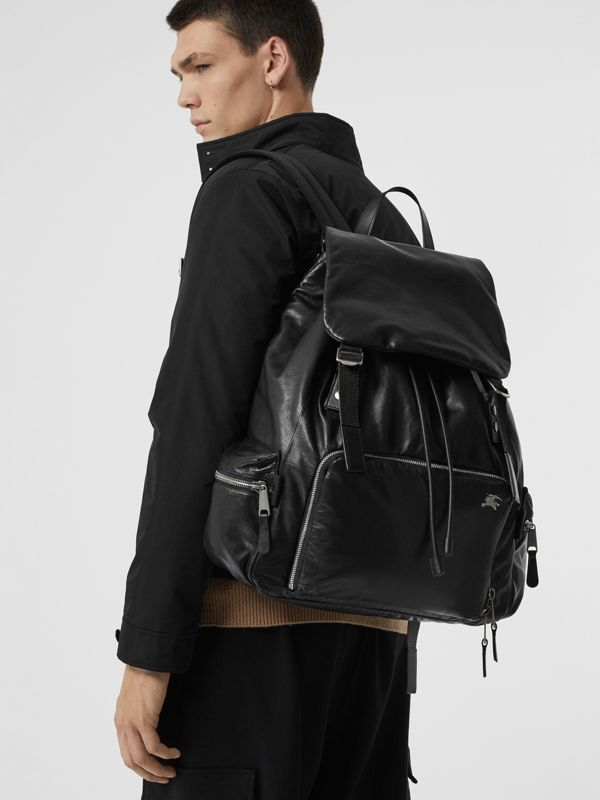 The Extra Large Rucksack in Nappa Leather in Black - Men | Burberry - cell image 3