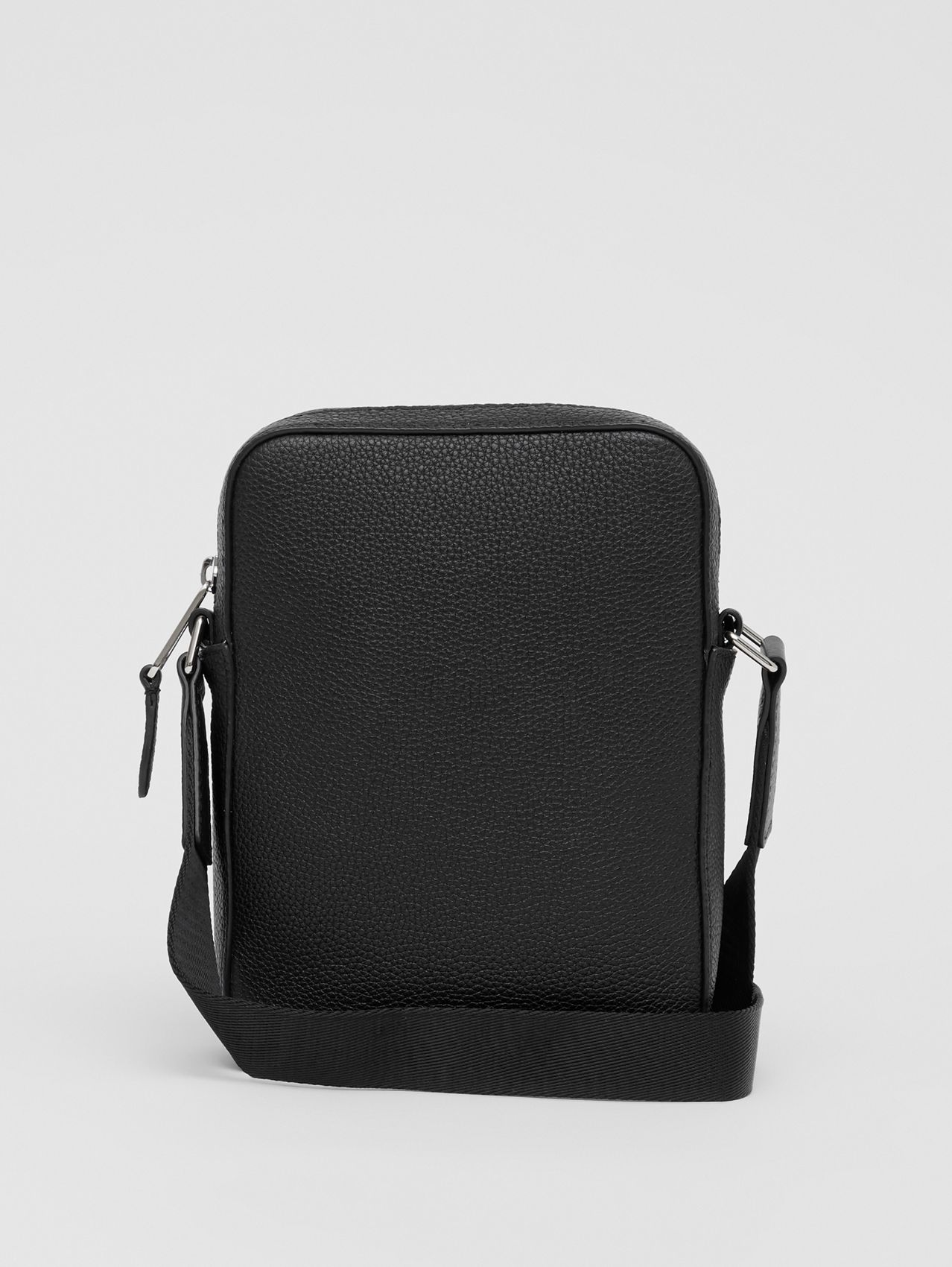 Logo Graphic Leather Crossbody Bag (Black)
