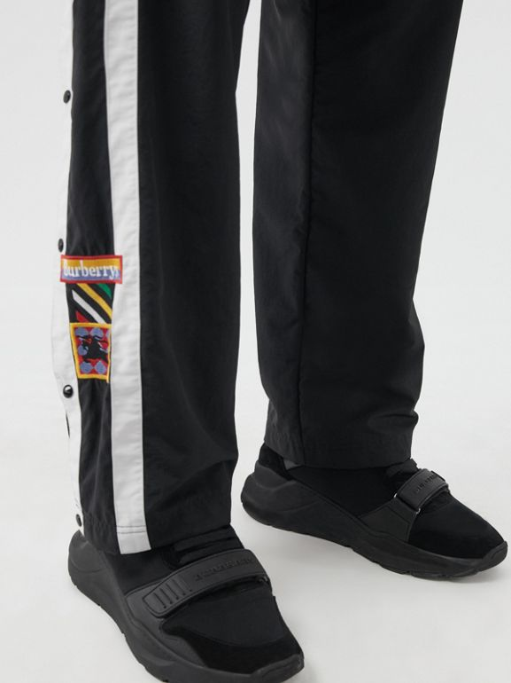 Sport Stripe Jersey Trackpants in Black - Men | Burberry Singapore - cell image 1