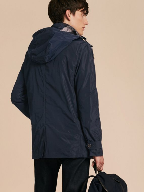 Ink Showerproof Hooded Coat with Removable Warmer Ink - cell image 2