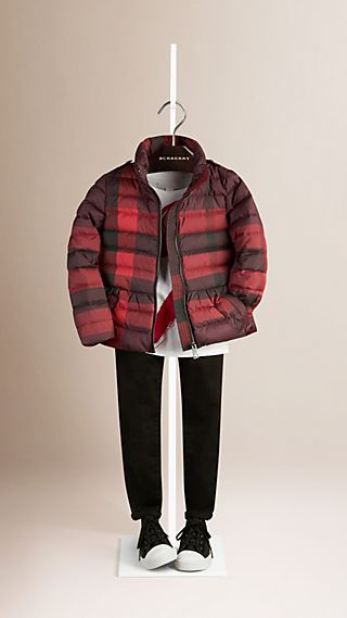 Check Down-Filled Jacket