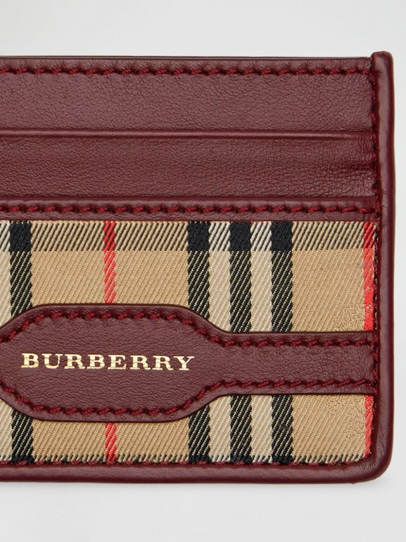 1983 Check and Leather Card Case in Antique Red - Men | Burberry Hong Kong - cell image 1