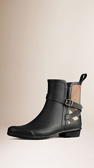 House Check Detail Rain Boots