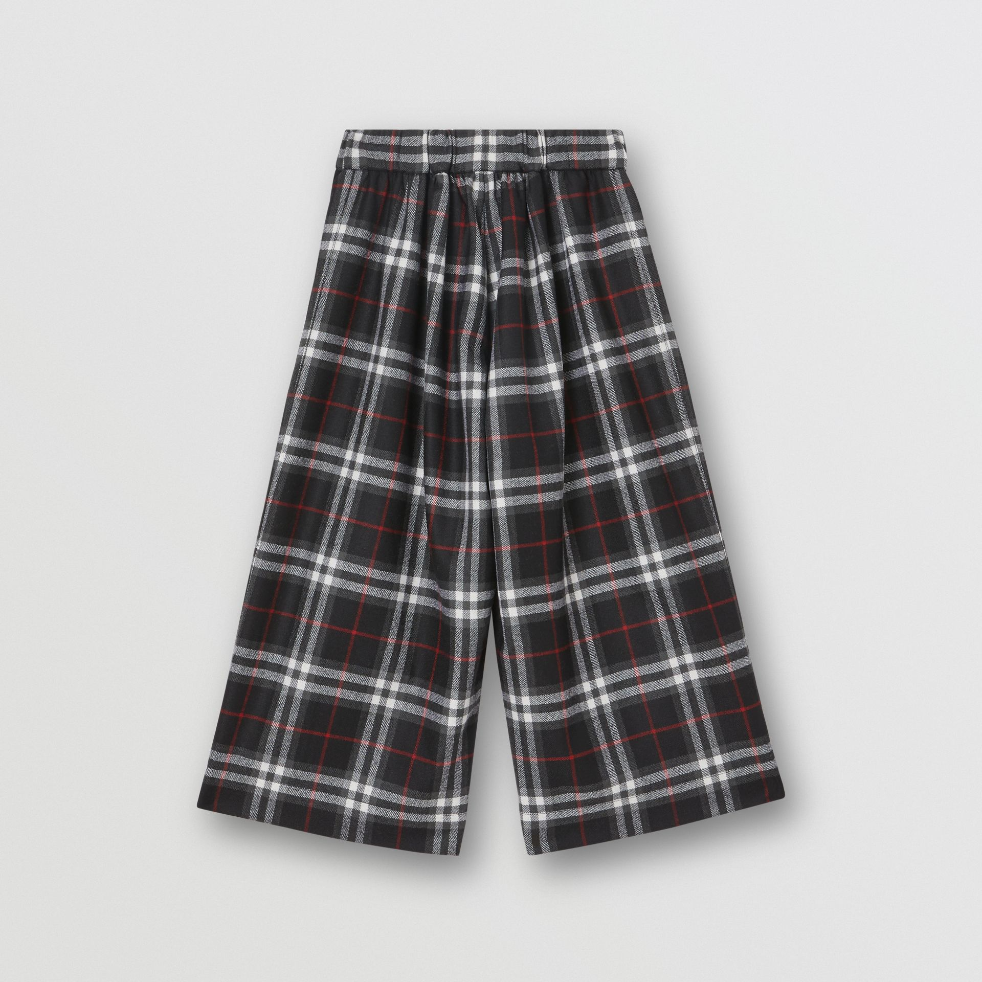 Vintage Check Wool Sailor Trousers in Black | Burberry United Kingdom - gallery image 3
