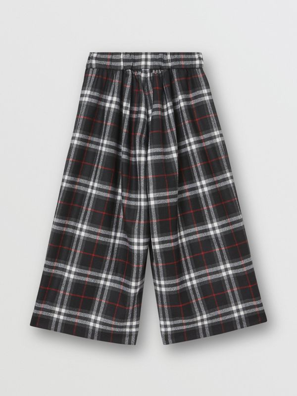 Vintage Check Wool Sailor Trousers in Black | Burberry United Kingdom - cell image 3