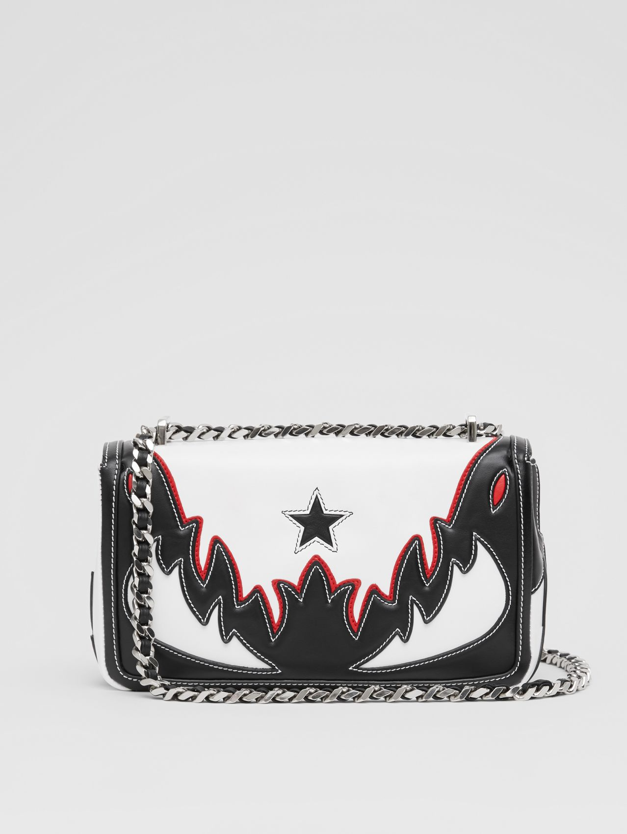 Small Topstitch Appliqué Leather Lola Bag