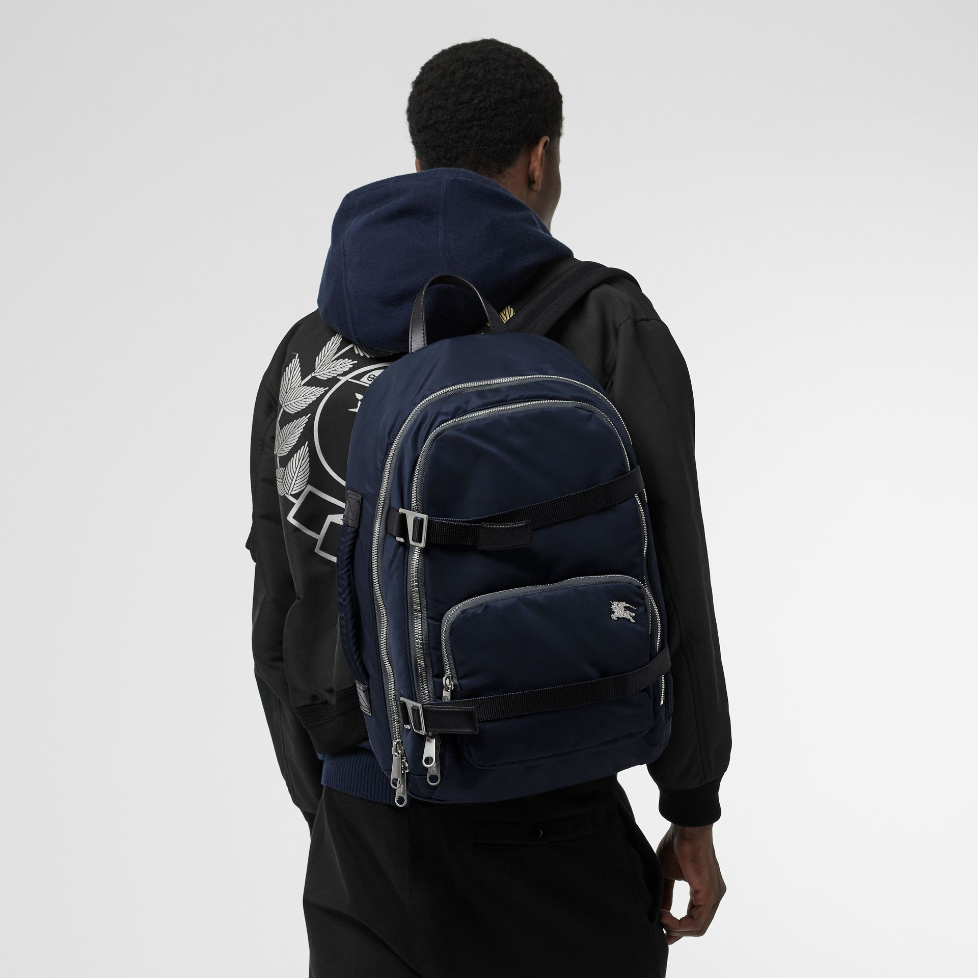 Large EKD Aviator Nylon Backpack in Ink Blue - Men | Burberry United States - gallery image 2