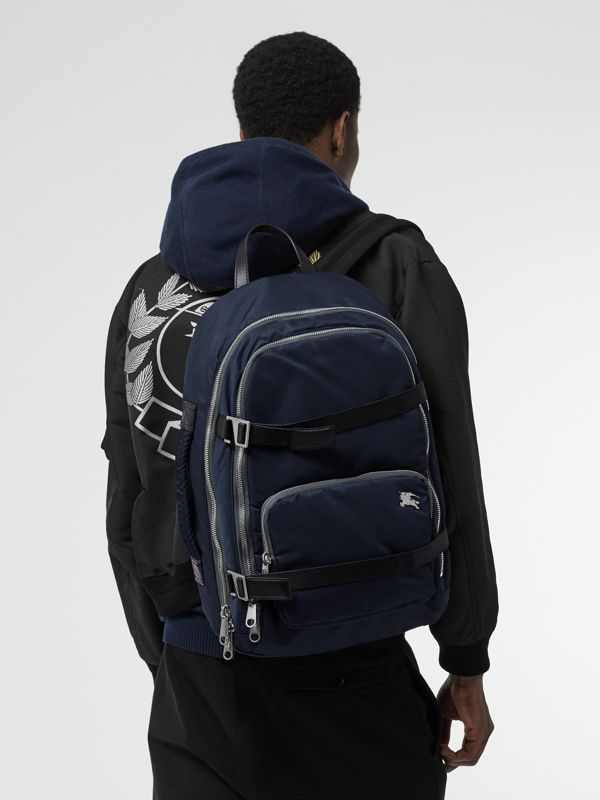 Large EKD Aviator Nylon Backpack in Ink Blue - Men | Burberry United States - cell image 2
