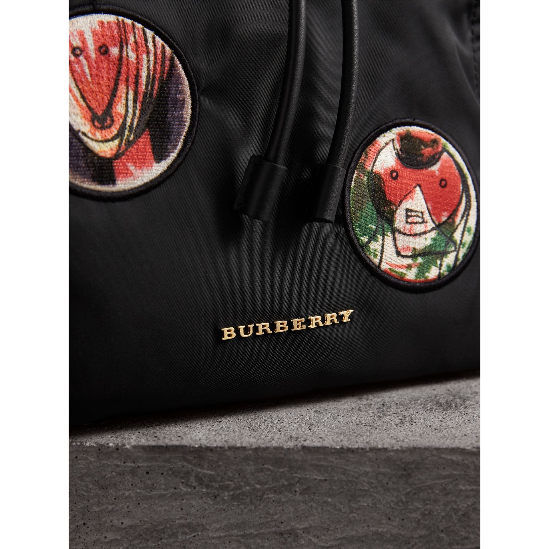 The Large Rucksack in Pallas Heads Appliqué in Black - Women | Burberry - gallery image 6
