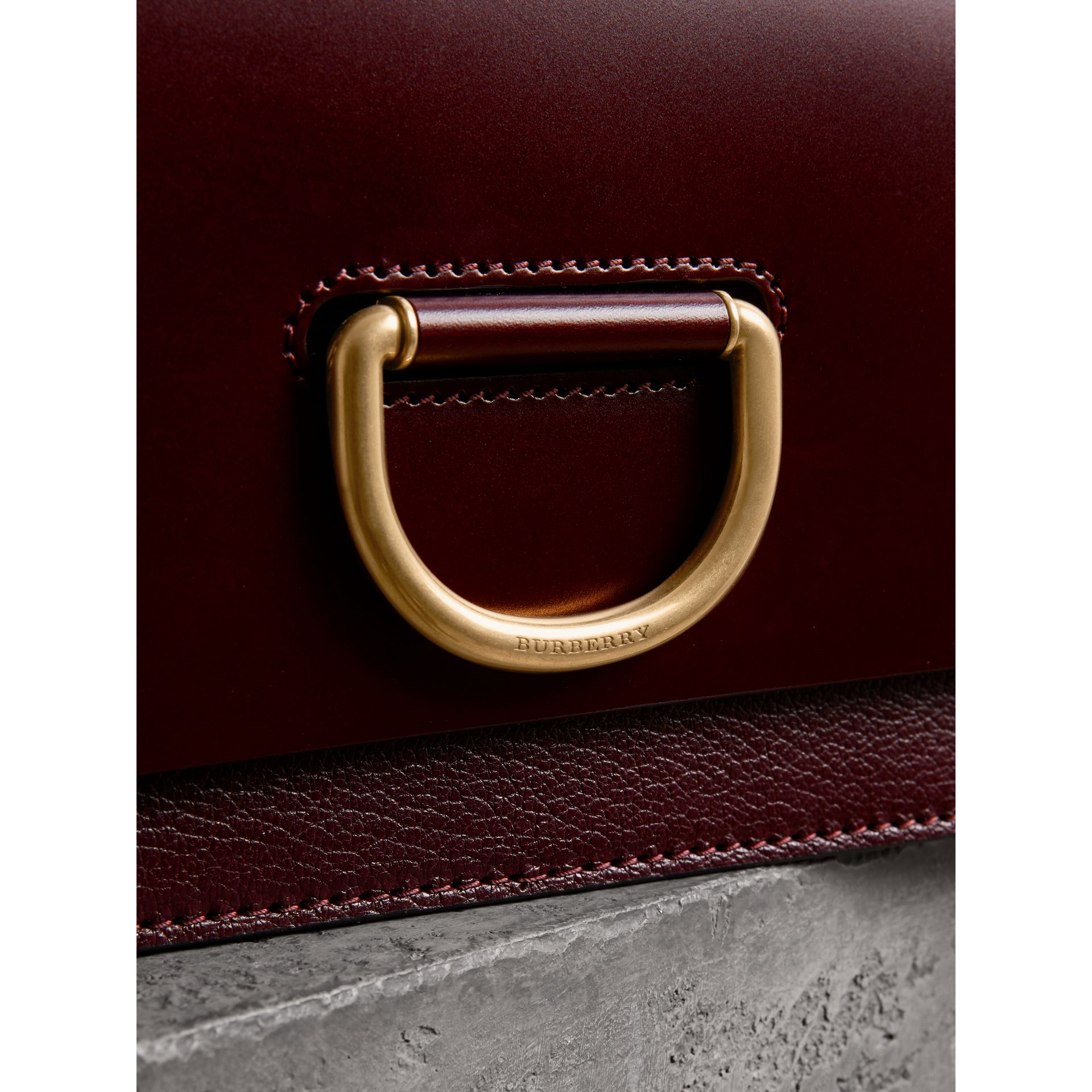 The Medium Leather D-ring Bag in Deep Claret - Women | Burberry - gallery image 1