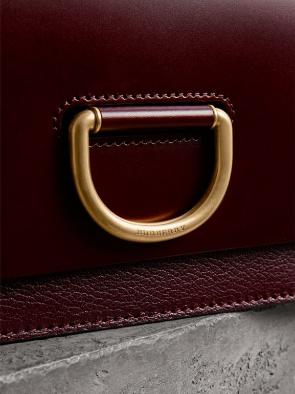 The Medium Leather D-ring Bag in Deep Claret - Women | Burberry - cell image 1