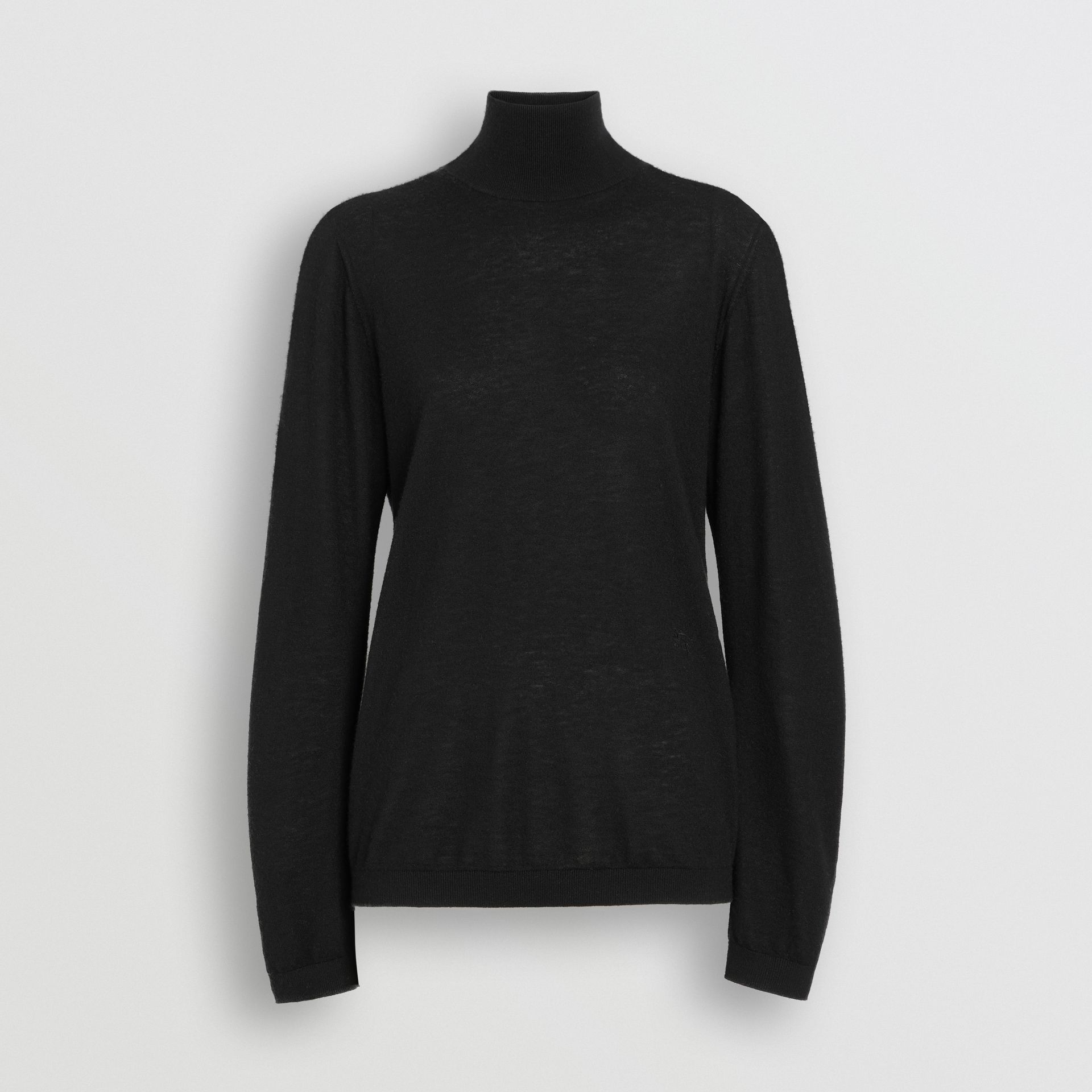 Cashmere Turtleneck Sweater in Black - Women | Burberry - gallery image 3