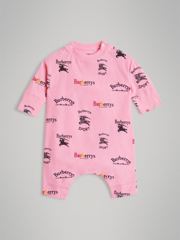 Archive Logo Two-piece Baby Gift Set in Neon Pink - Children | Burberry - cell image 2