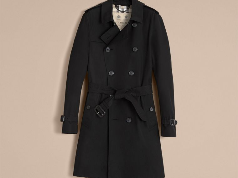 Black The Sandringham – Long Heritage Trench Coat Black - cell image 4