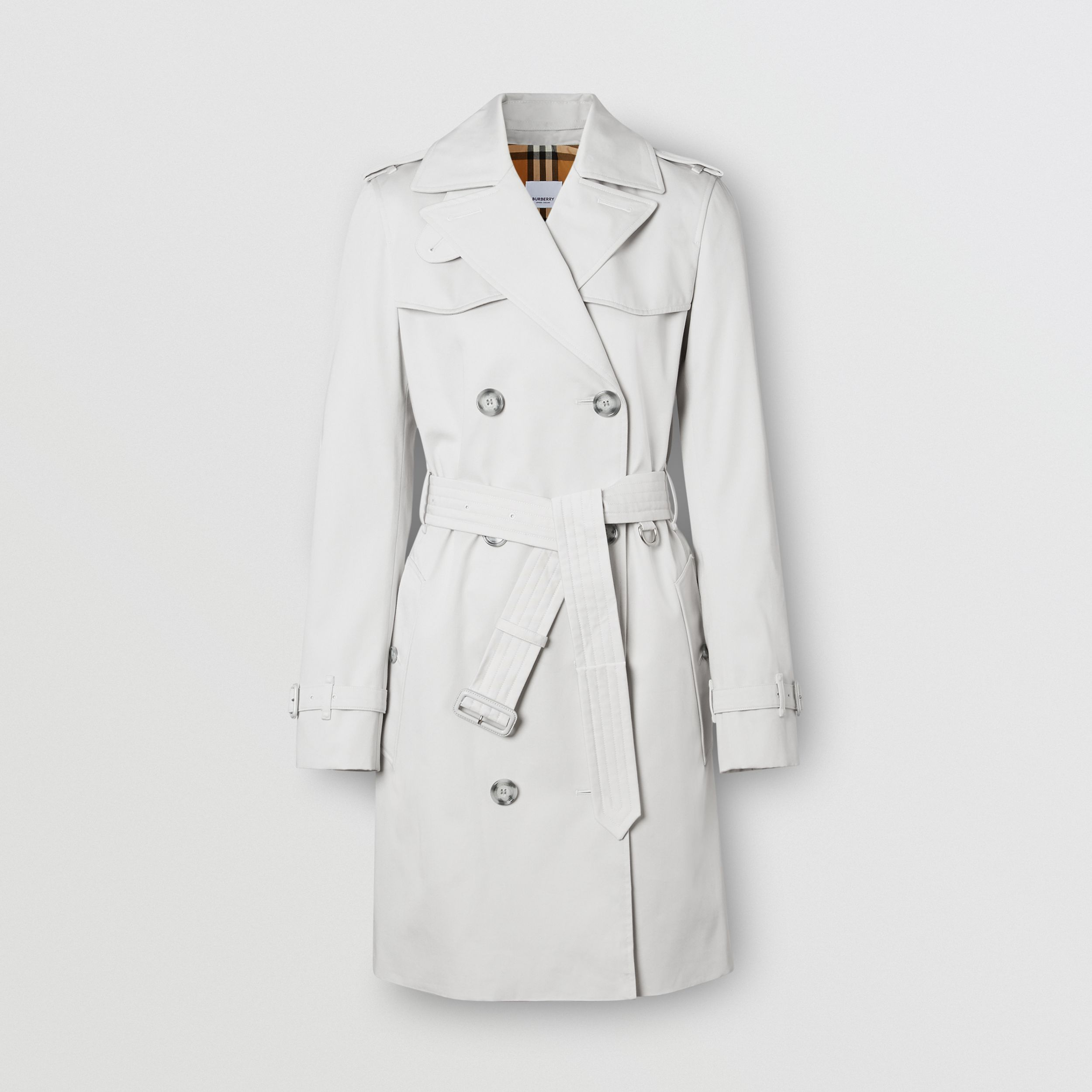 The Short Islington Trench Coat in Light Pebble Grey - Women | Burberry Canada - 1