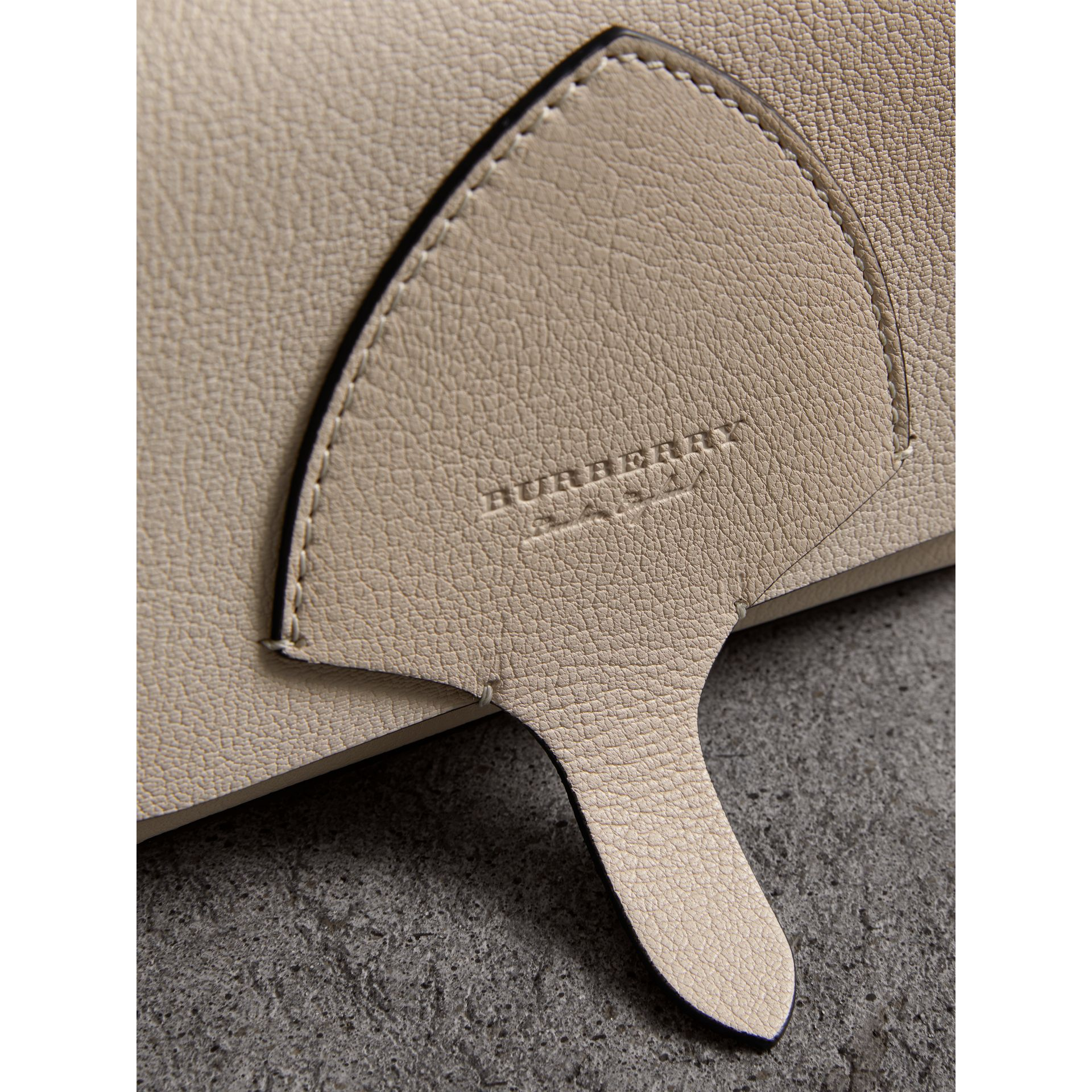 Equestrian Shield Leather Wallet with Detachable Strap in Stone - Women | Burberry United Kingdom - gallery image 1