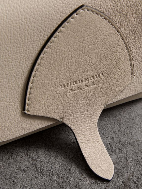 Equestrian Shield Leather Wallet with Detachable Strap in Stone - Women | Burberry Australia - cell image 1