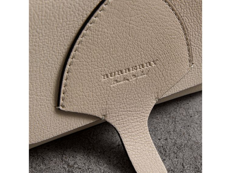 Equestrian Shield Leather Wallet with Detachable Strap in Stone - Women | Burberry Singapore - cell image 1