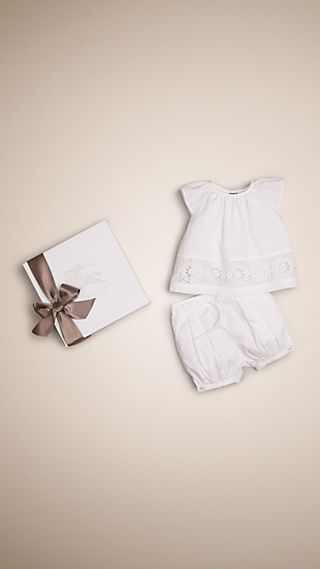 Lace Detail Two-piece Baby Gift Set