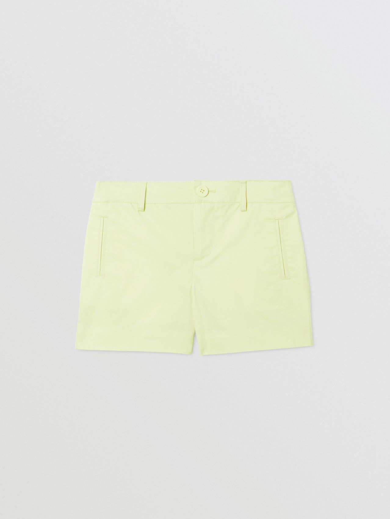 Embroidered Logo Cotton Shorts in Pistachio