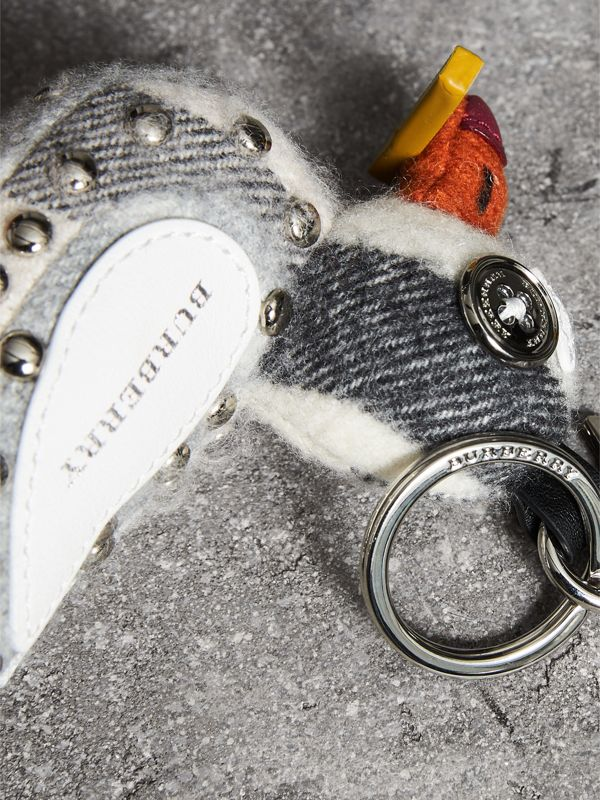 Lawrence The Seagull Cashmere Charm in White Multicolour | Burberry United Kingdom - cell image 2