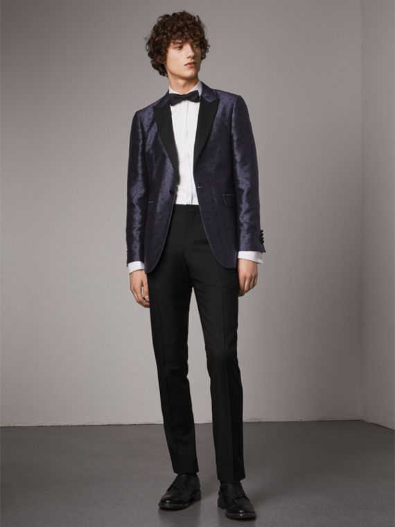 Soho Fit Silk Wool Jacquard Evening Jacket - Men | Burberry
