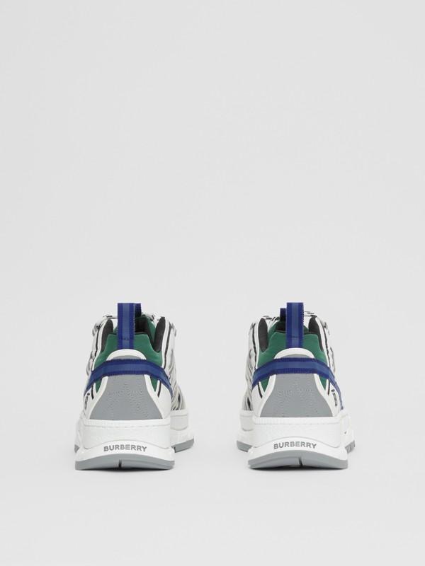 スエード ヴィンテージチェック&ナイロン ユニオン スニーカー (アーカイブベージュ) - メンズ | バーバリー - cell image 3
