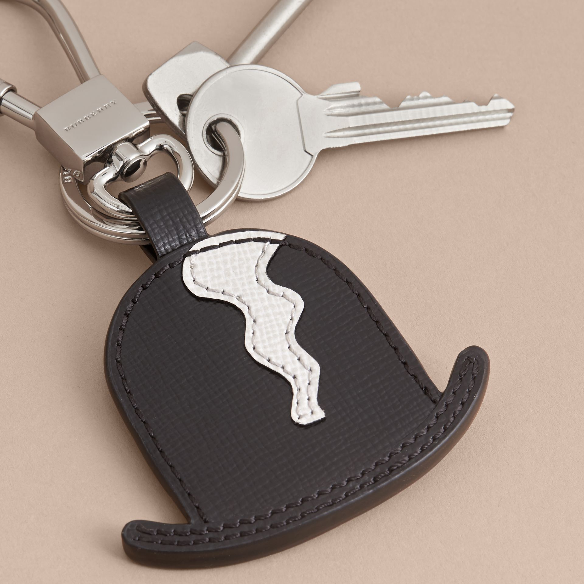 Leather Bowler Hat Key Ring - gallery image 3