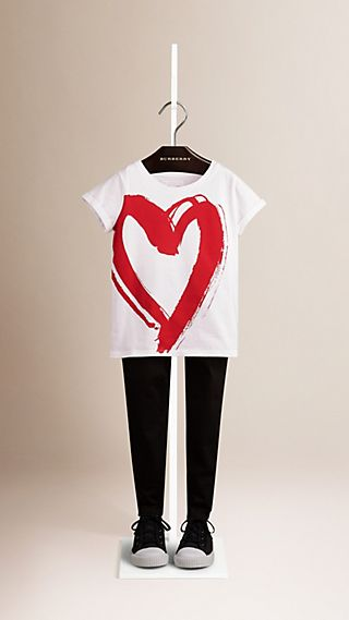 Heart Graphic Print Cotton T-shirt