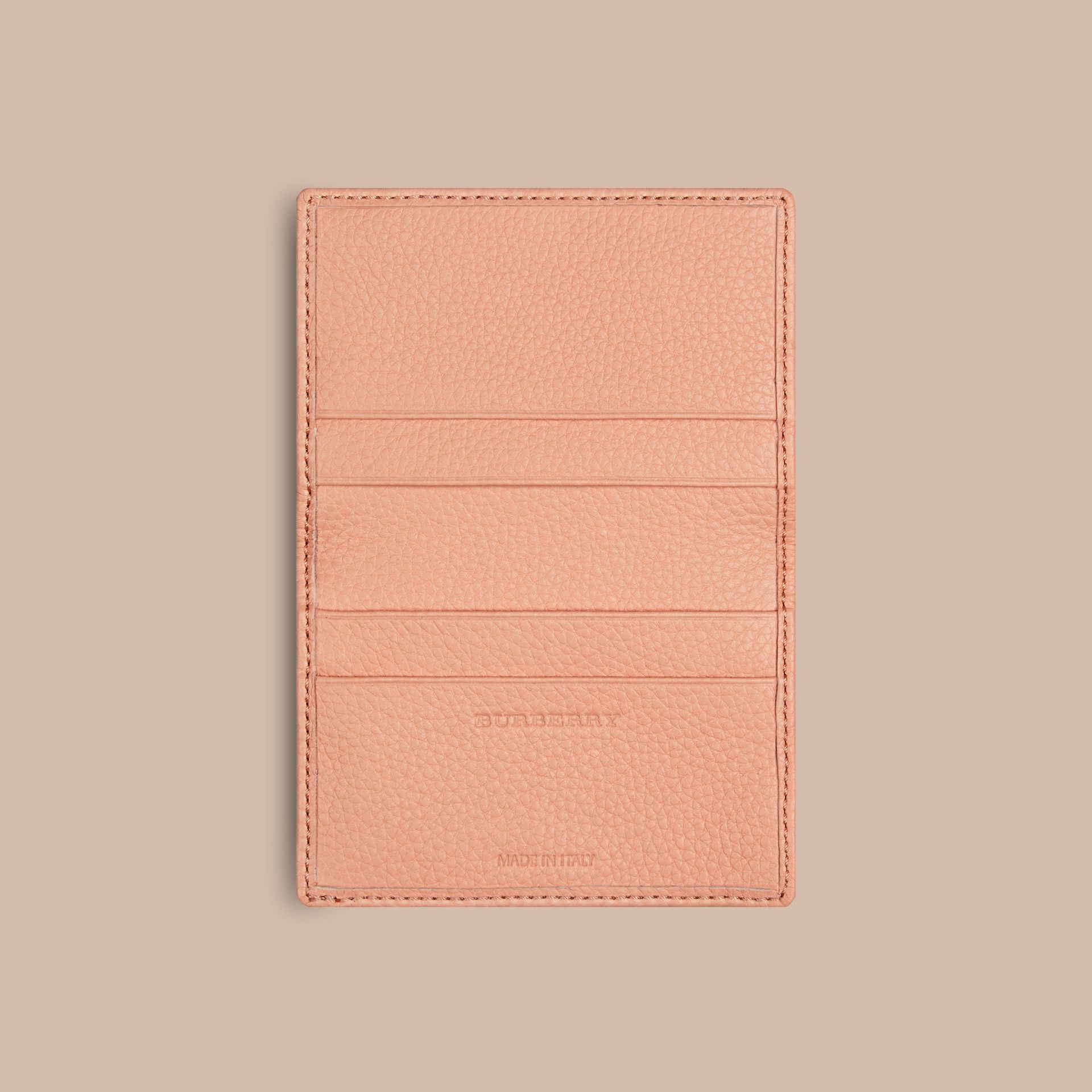 Pink apricot Grainy Leather Card Case Pink Apricot - gallery image 4