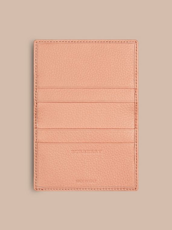 Pink apricot Grainy Leather Card Case Pink Apricot - cell image 3