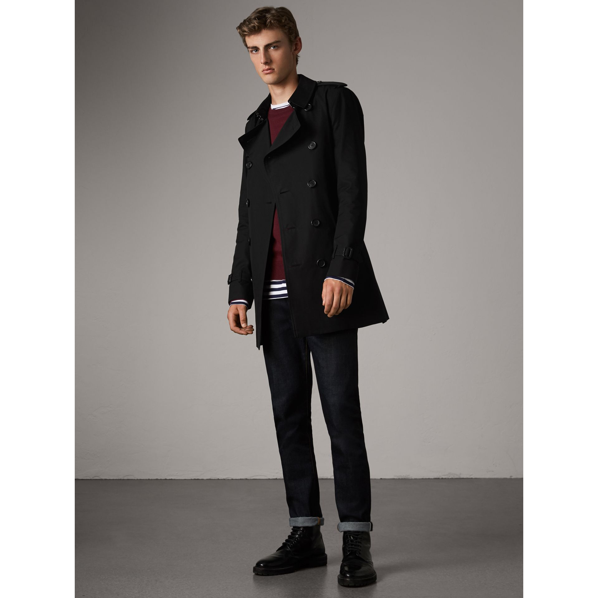 The Sandringham – Trench mi-long (Noir) - Homme | Burberry - photo de la galerie 1