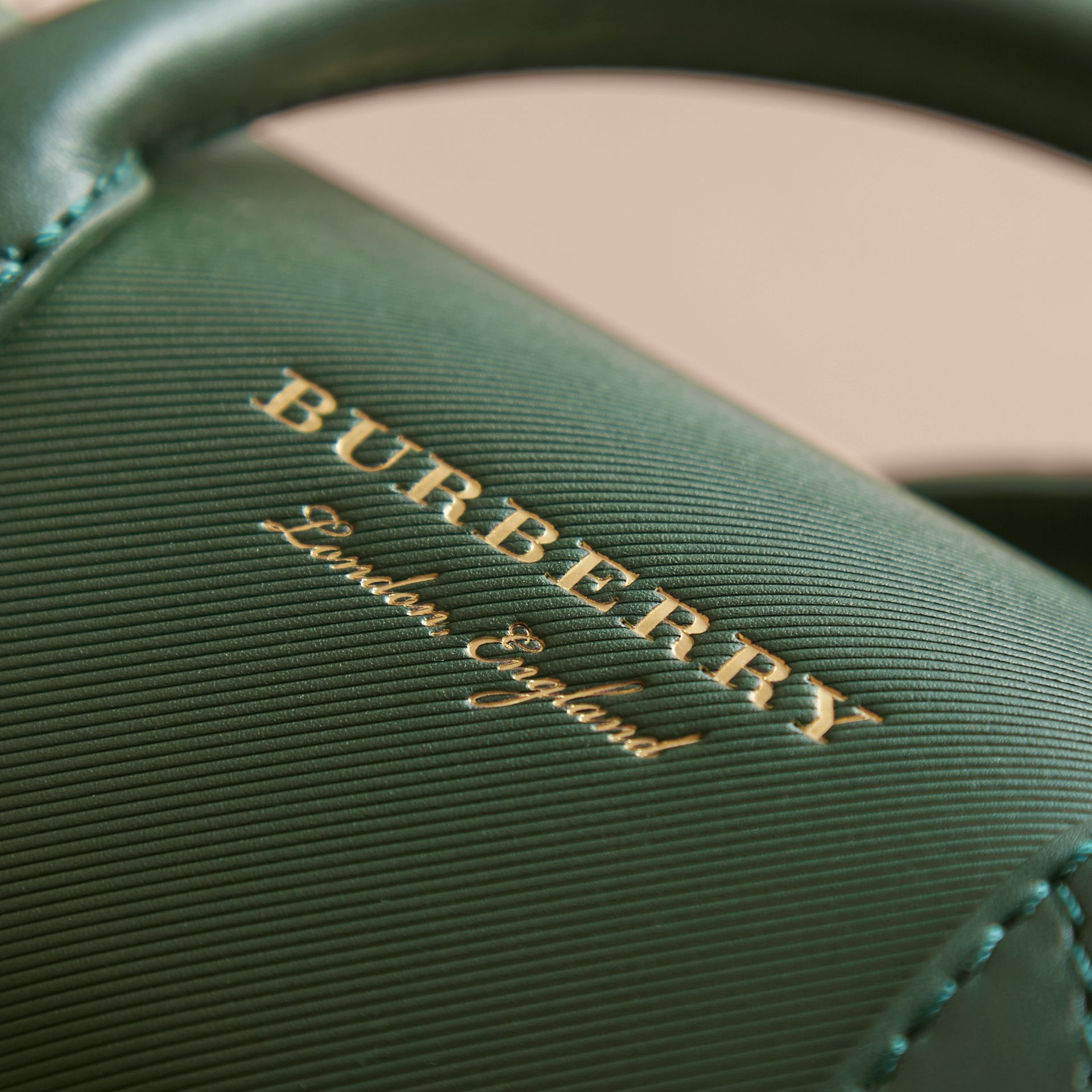 The Mini DK88 Barrel Bag in Dark Forest Green - Women | Burberry United States - gallery image 5