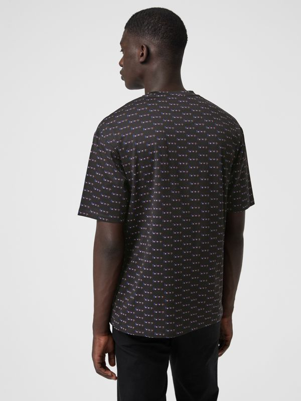 Archive Logo Print Cotton T-Shirt in Black - Men | Burberry - cell image 2