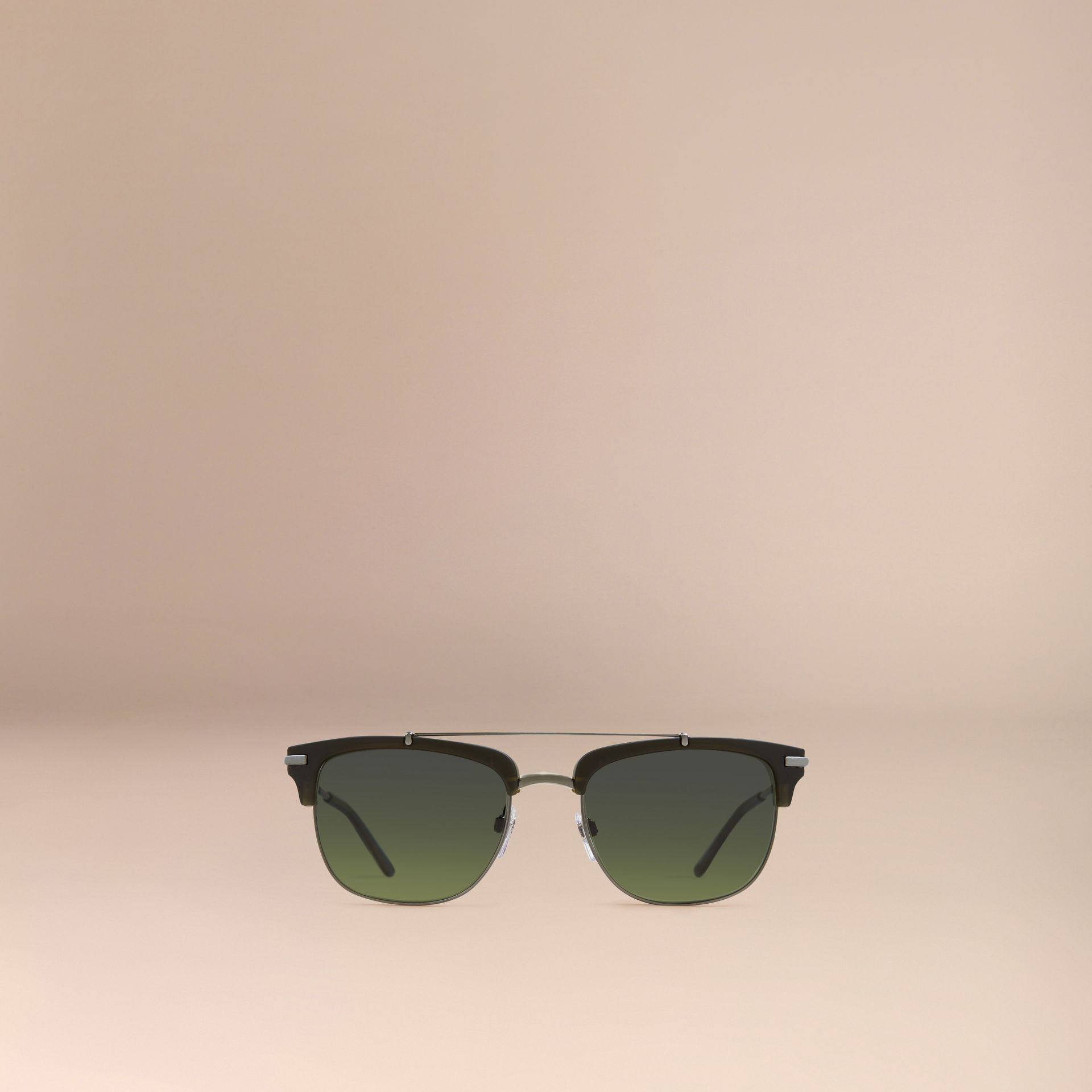 Square Frame Sunglasses Olive - gallery image 3