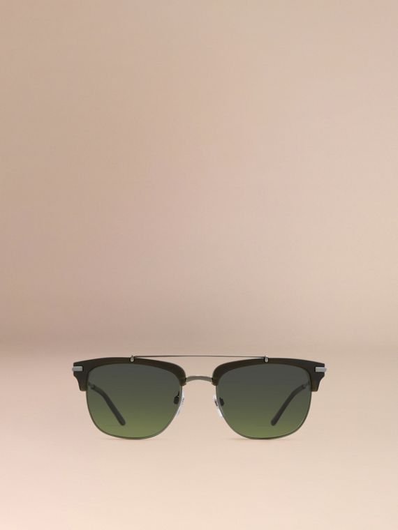 Square Frame Sunglasses Olive - cell image 2