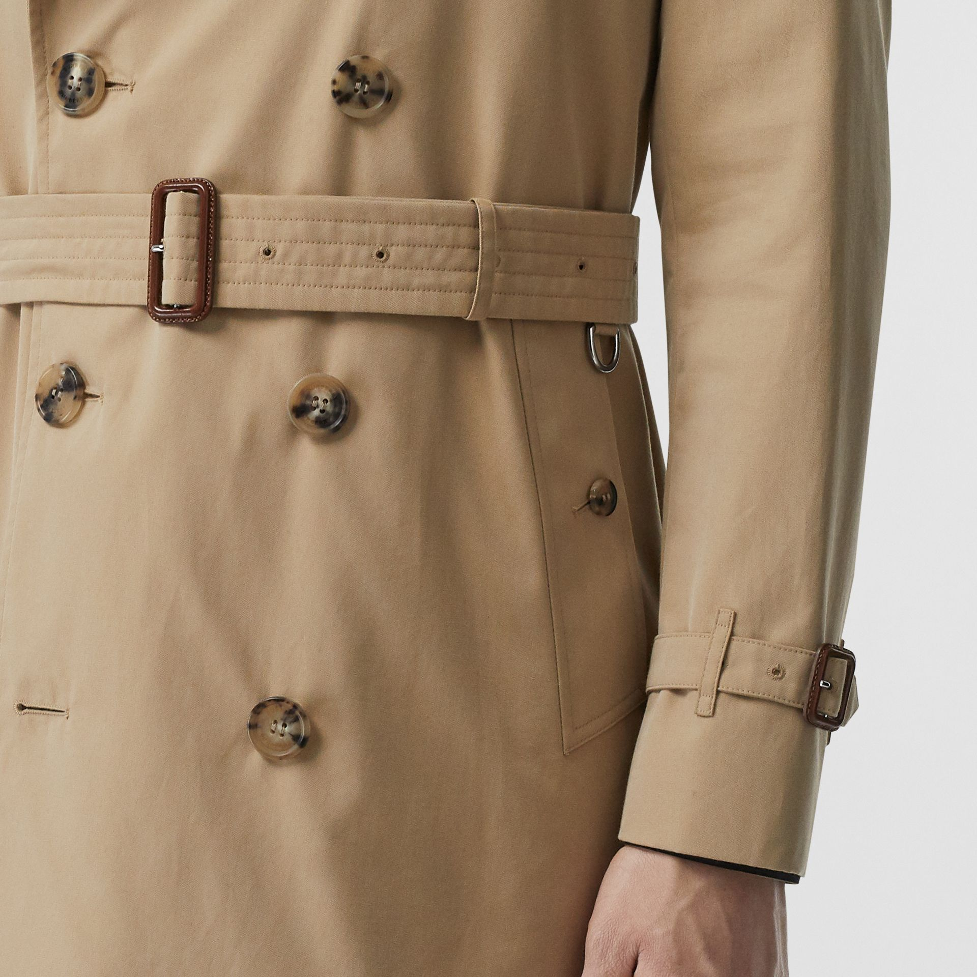 Cotton Gabardine Trench Coat in Honey - Men | Burberry Canada - gallery image 3