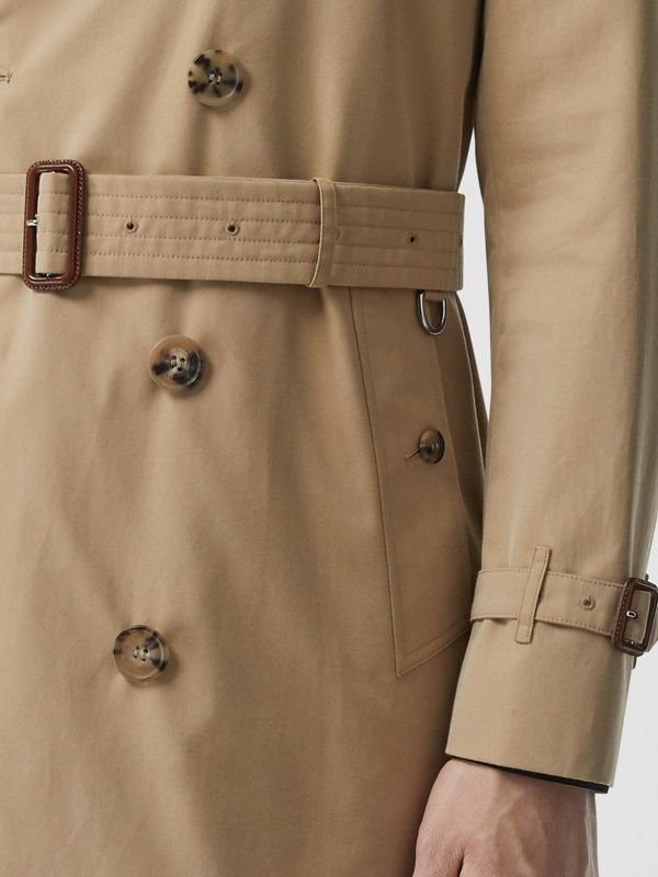 Cotton Gabardine Trench Coat in Honey - Men | Burberry Canada - cell image 3