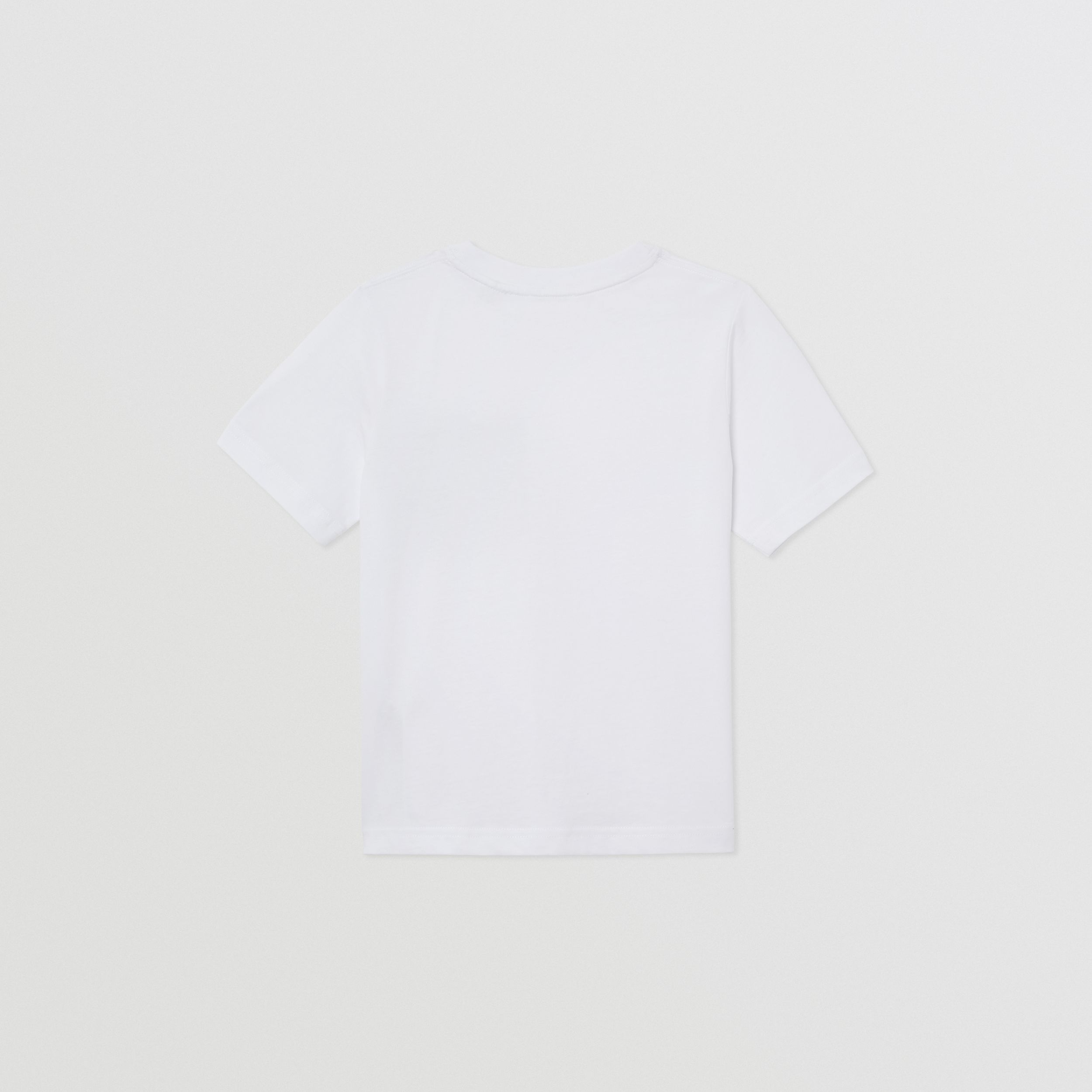Vintage Check Pocket Cotton T-shirt in White | Burberry Canada - 4