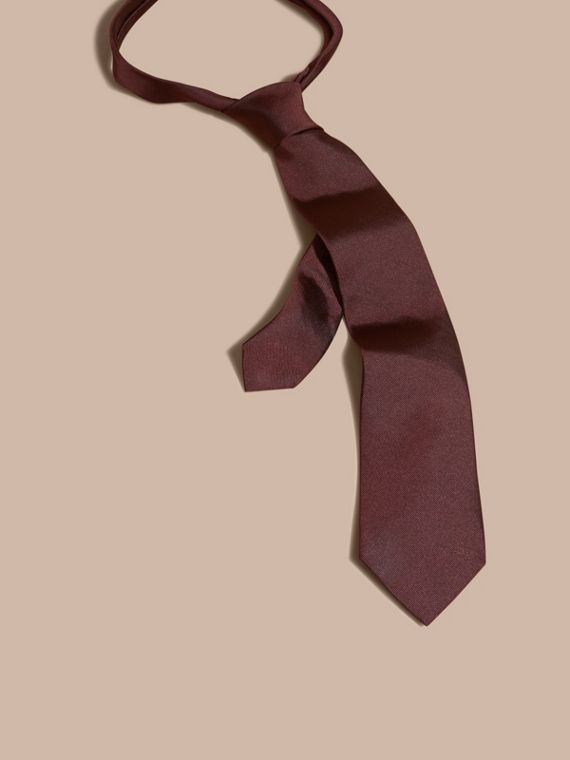 Modern Cut Silk Twill Tie Deep Claret