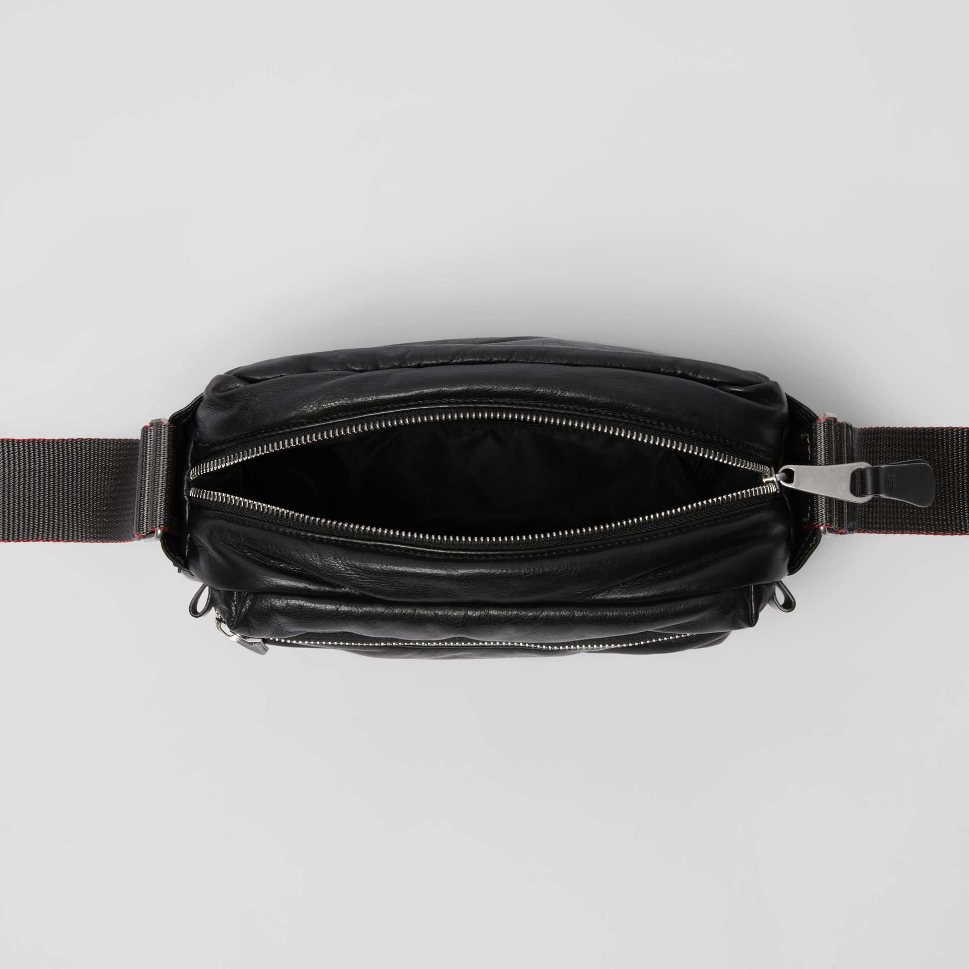 EKD Nappa Leather Crossbody Bag in Black - Men | Burberry United States - gallery image 3