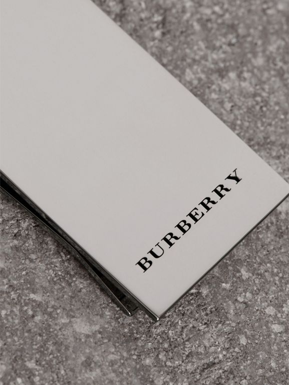 Brass Money Clip in Silver - Men | Burberry - cell image 1